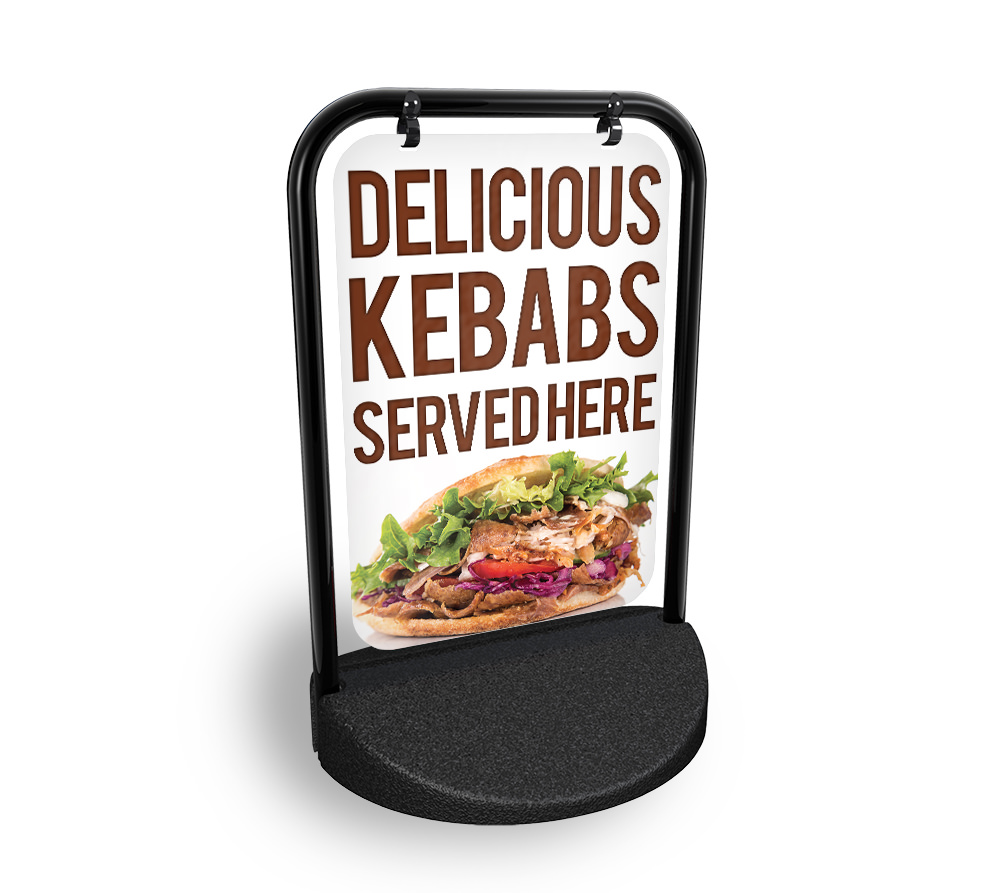 Details About Kebab House Swinging Pavement Sign Outdoor Display Barbecue Take Away Just Eat